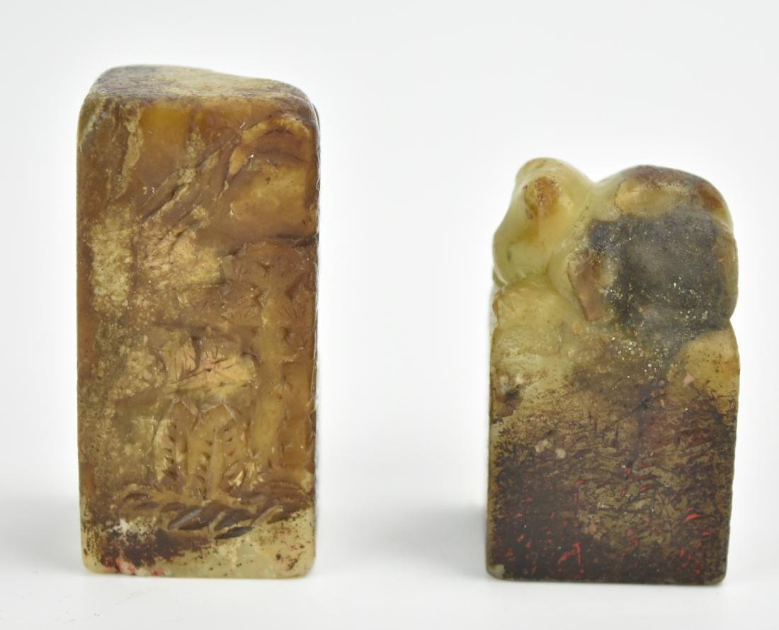 Two Piece of Chinese Soapstone Seal - 3