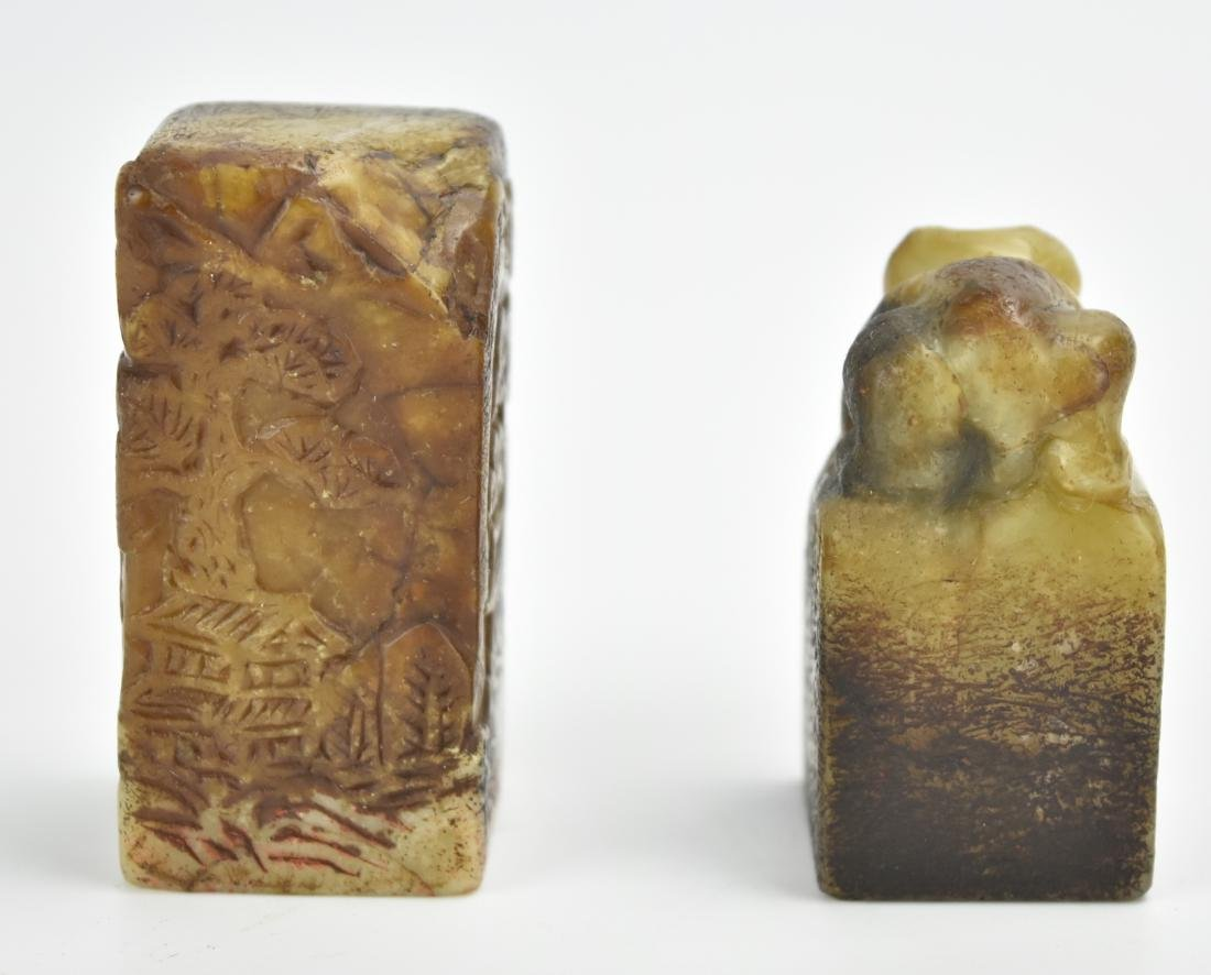 Two Piece of Chinese Soapstone Seal - 4