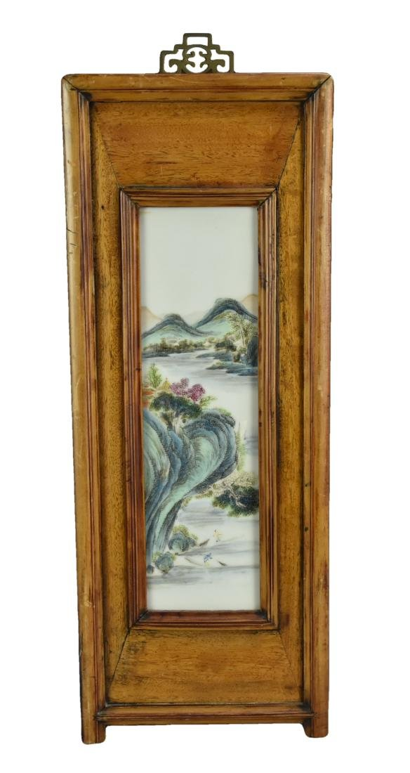 A Chinese Famille Rose Porcelain Plaque,19-20th C.