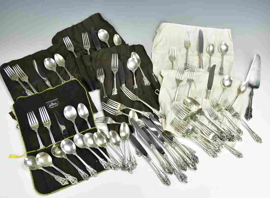 Wallace Sterling Silver Flatware Set For 12