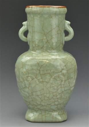 Chinese Celadon Ge Type Vase1920th C