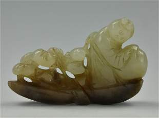Chines Jade Carving of a Mushroom Gatherer