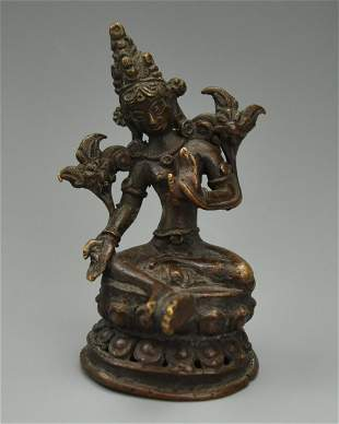 Small ThaiStyle Bronze Buddha19th C