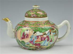 Chinese Cantonese Glazed Teapot19th C