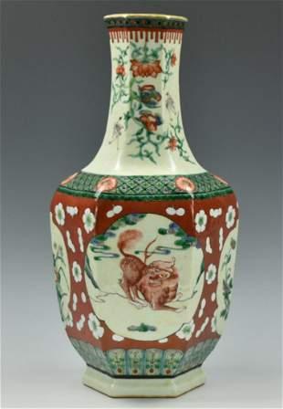 Chinese Famille Verte Vase20th C