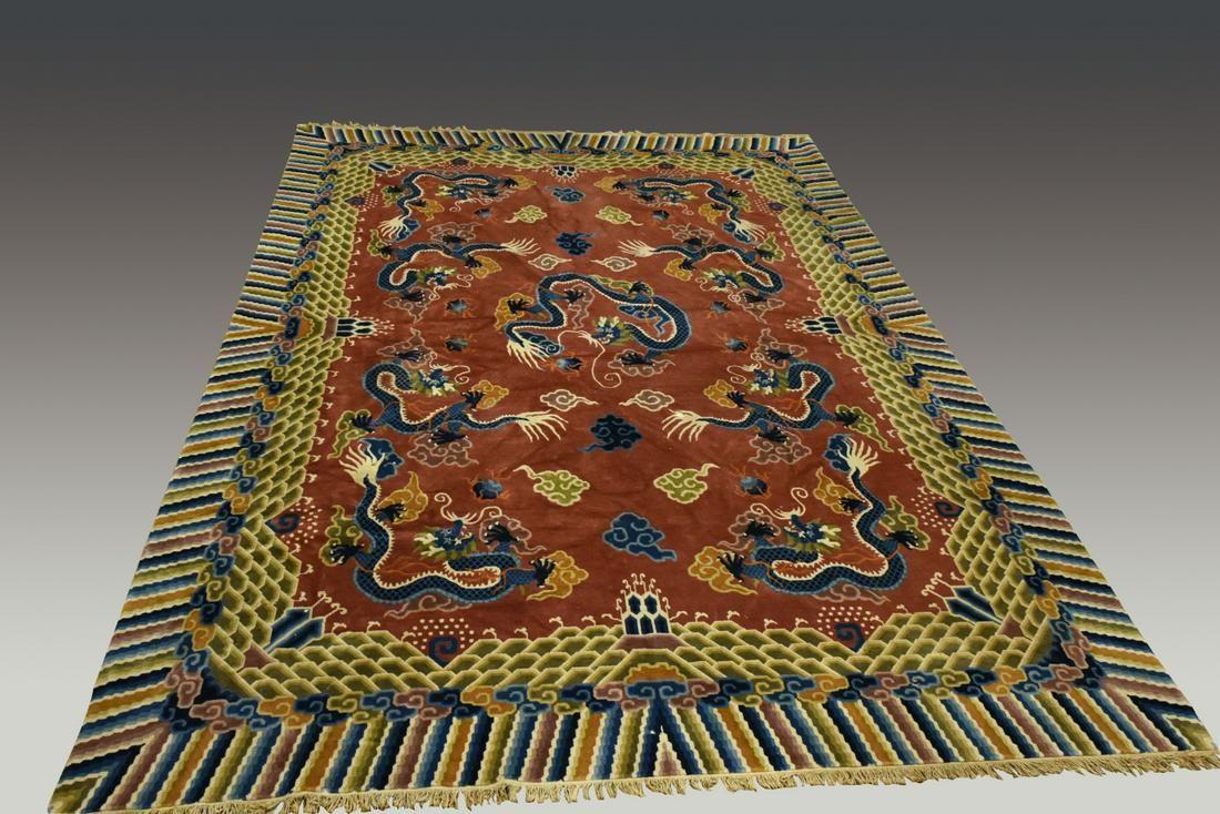 Chinese Dragon Carpet, Qing Dynasty