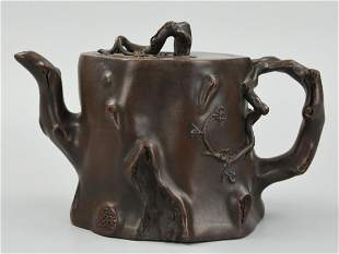 A Fine Chinese Zisha Teapot and Cover Late Qing D