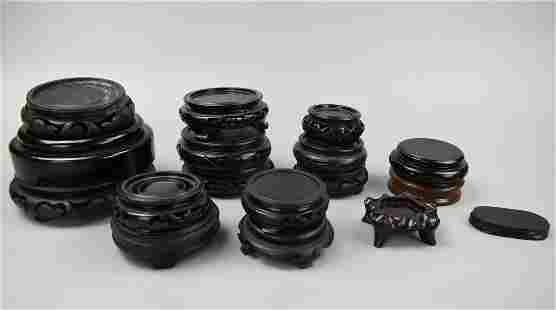 (17)A Set of Circular Wooden Stands