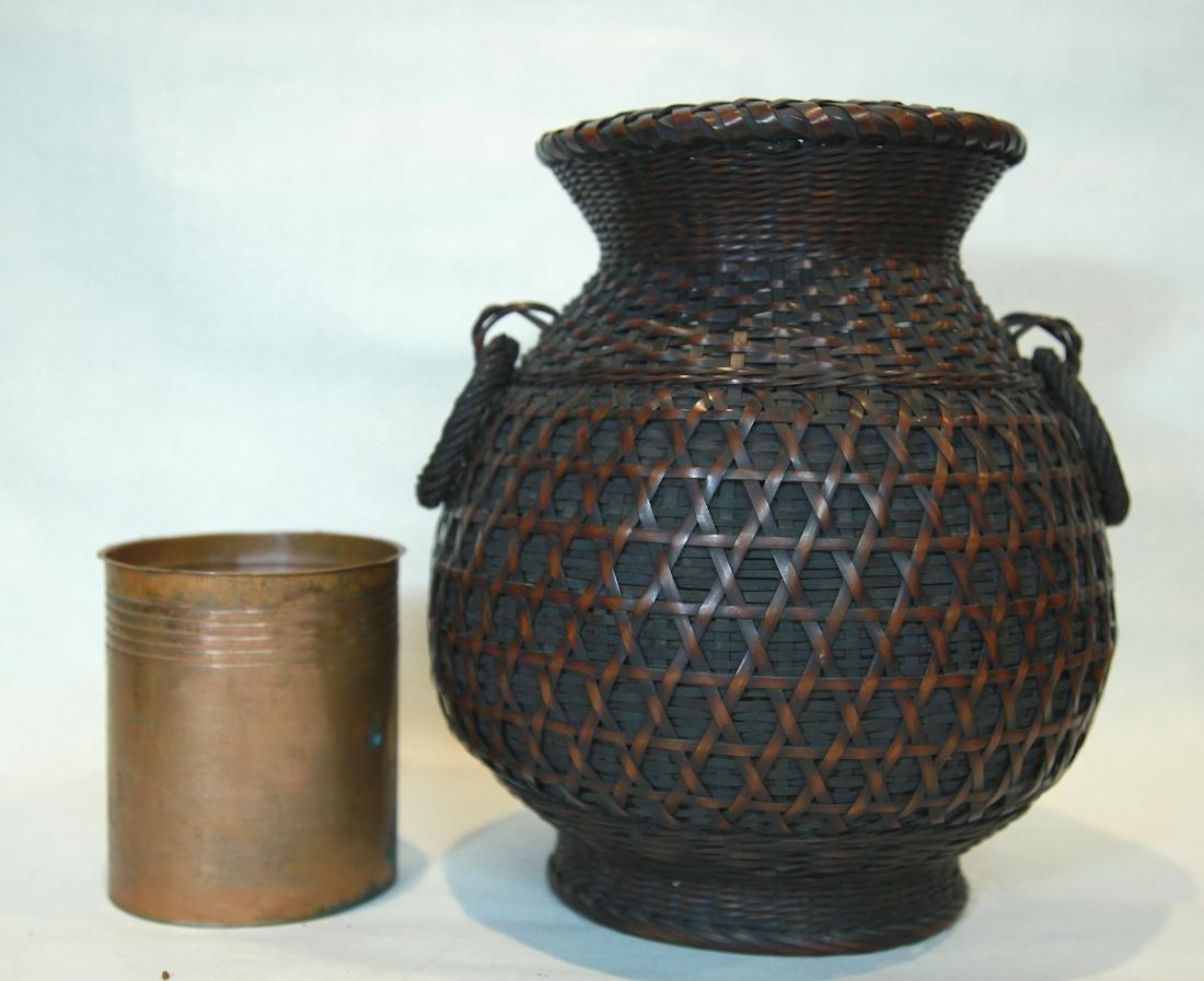 Japanese Bamboo Basket handle, Zhaohe Period