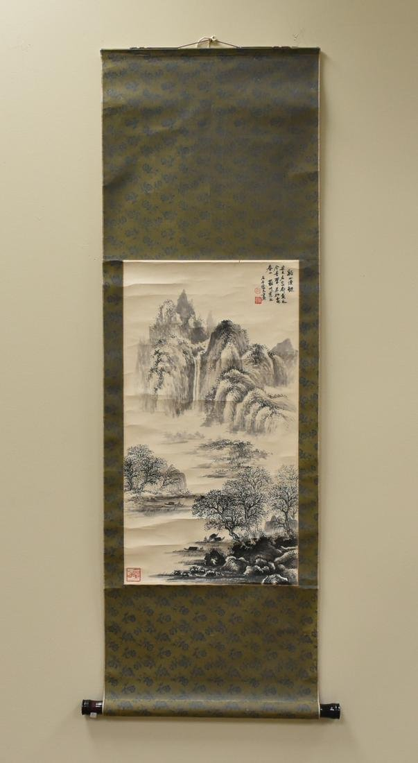Chinese Painting of Mountainous Scenery ,Signed