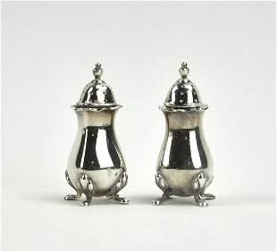 Tiffany & Co Salt & Pepper Shakers, Sterling Silver