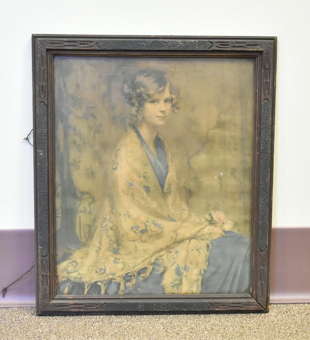 An Oil Painting, Blonde Female Figure