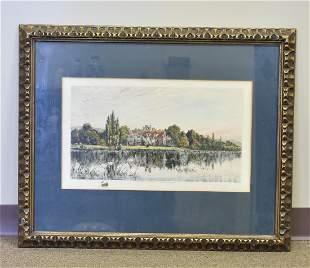 Pen Drawing, River Scene