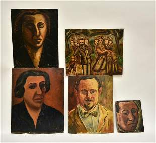 5 Oil Painting, Figures, signed by M. Boccini