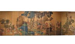 """Massive Chinese Silk Paintings of """"Deities"""",Qing D"""