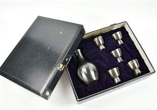 Set of Japanese Silver Jug & Cups,Weight 185 gram
