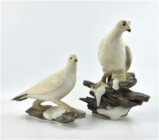Pair of Boehon Porcelain Bird Statue
