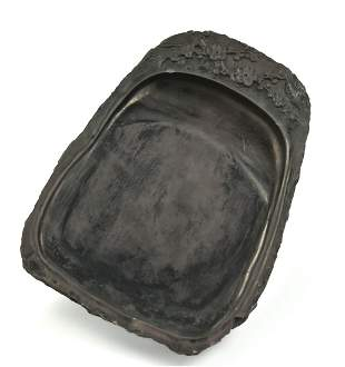 """Chinese Carved """"Duan"""" Inkstone, Qing Dynasty"""