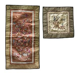 2 Chinese Embroidery Piece