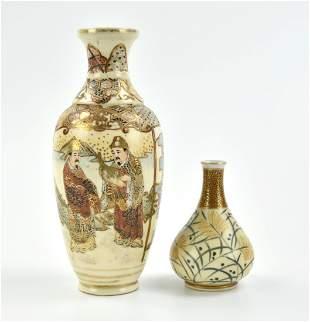 2 Japanese Satsuma Vase,19-20th C.