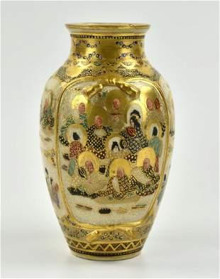 Japanese Satsuma Vase with Buddha, 19th C.