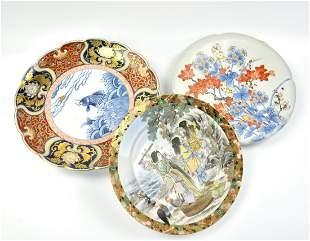 3 pieces of Japanese imari Porcelain Plate,19th C.