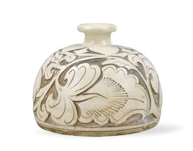Chinese Cizhou Ware Carved Waterpot