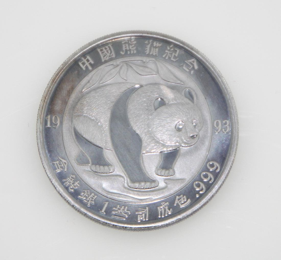 (1) 1993 Panda Chinese Silver Coin