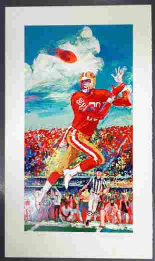 LeRoy NEIMAN Signed JERRY RICE Serigraph 5/50