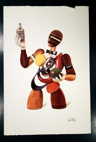 Daniel MEYER, Absolut Vodka, Signed w/ Seal 1992