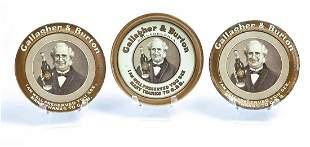 THREE GALLAGHER & BURTON PHILADELPHIA TIP TRAYS