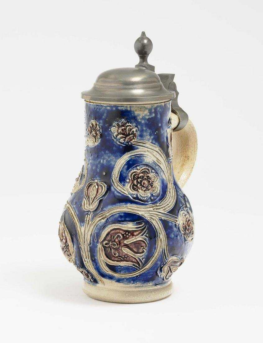 A Small Pear-Shaped jug - Westerwald, late 17th Century