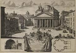 Veduta di Piazza Navona sopra le rovine del Circo