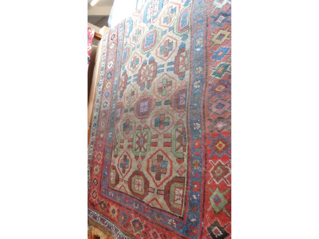 """Antique Caucasian rug, approx 52"""" x 100"""""""