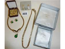Vintage Christian Dior designer necklaces and earrings