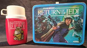 1983 Star Wars Return of the Jedi LUNCHBOX  Thermos