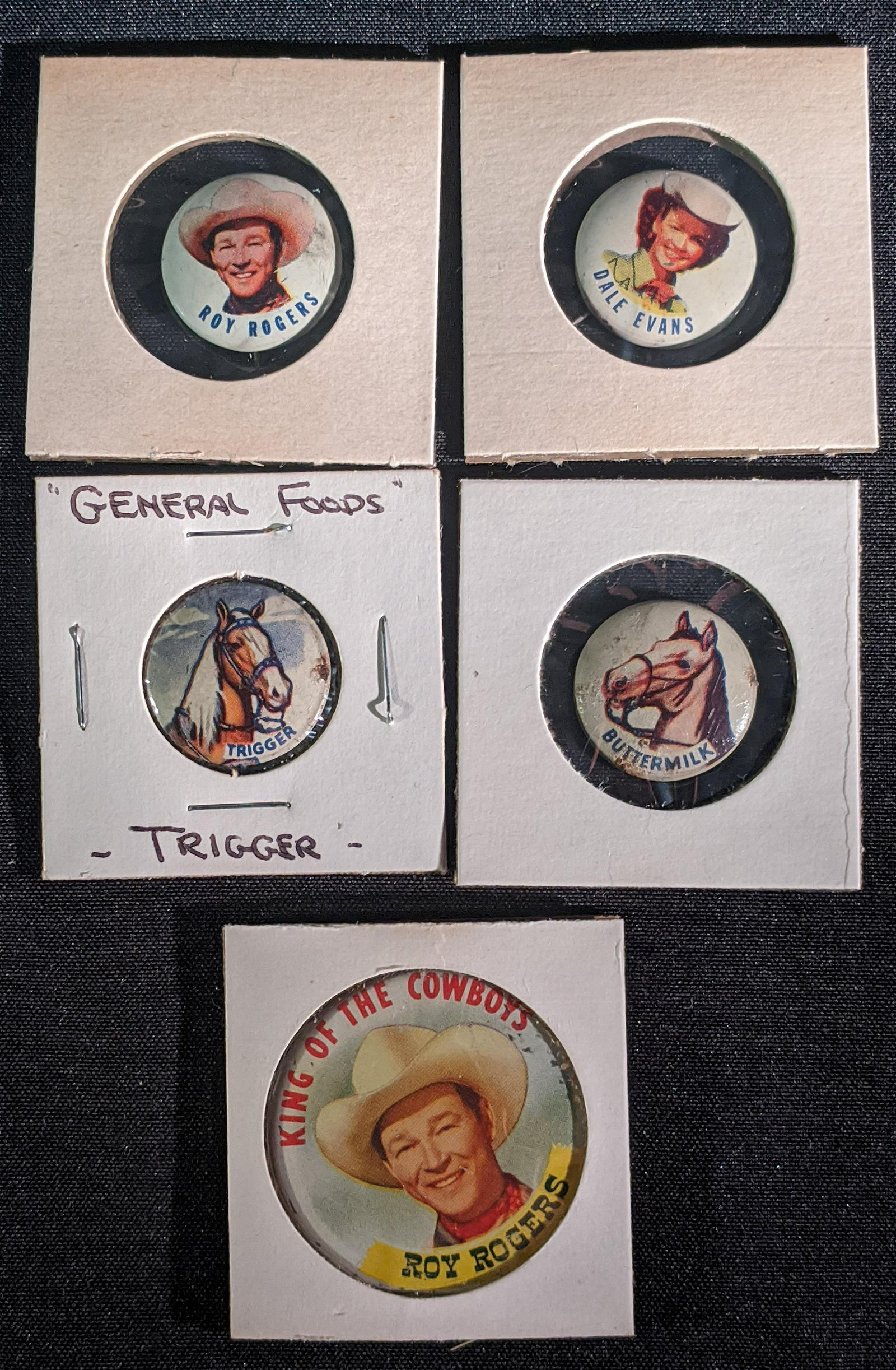 15 Post Grape-Nuts Roy Rogers Premium Buttons