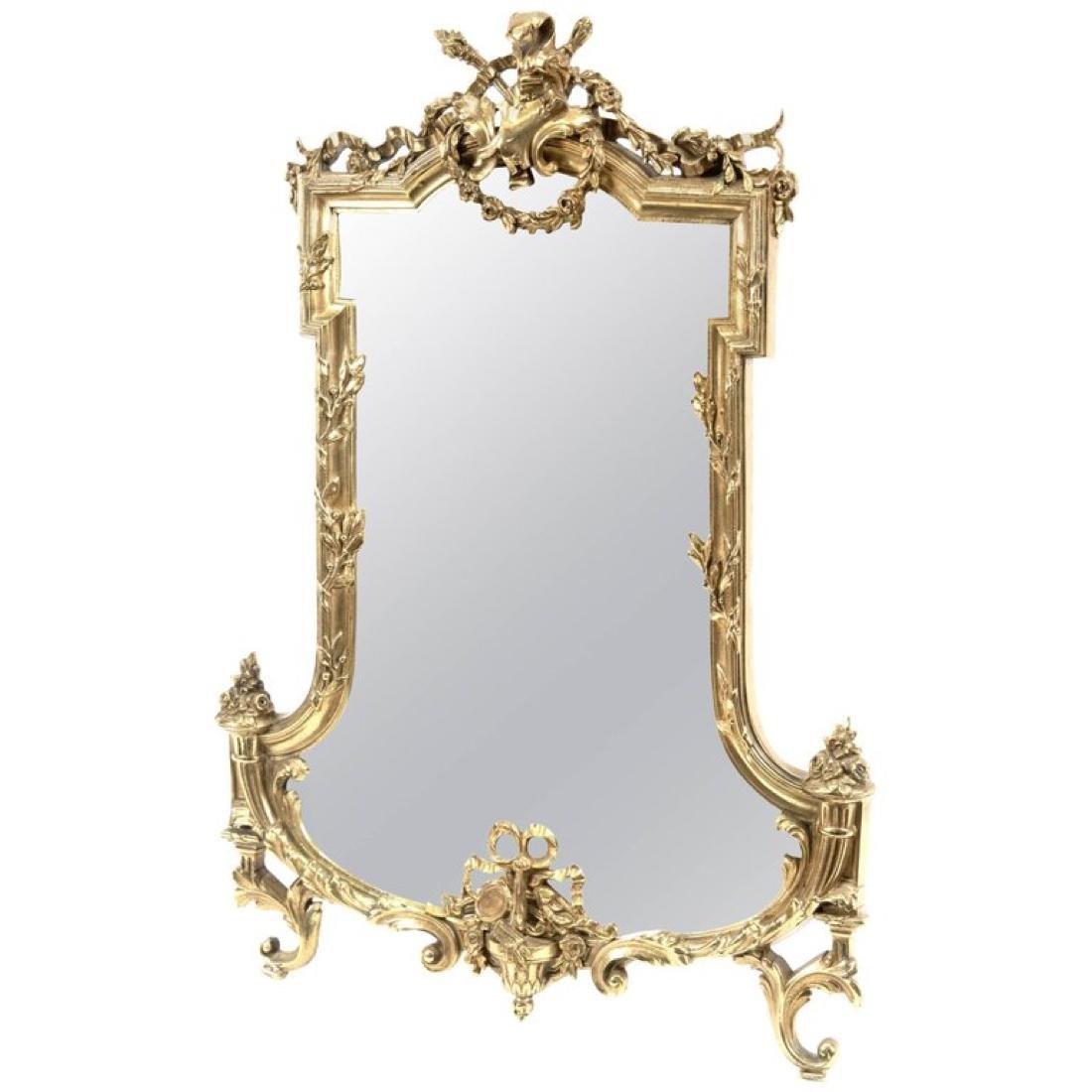 French Louis XVI-Style Ormolu Table-top Mirror