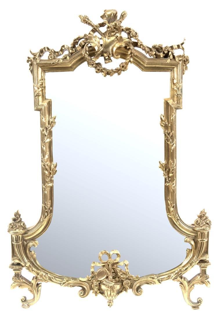 French Louis XVI-Style Ormolu Table-top Mirror - 2