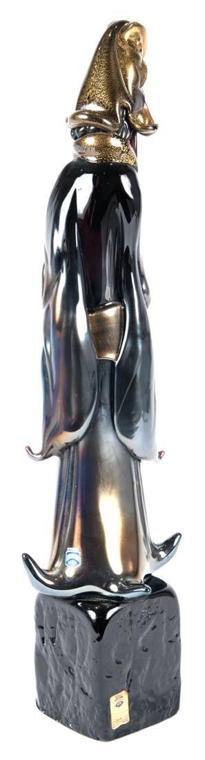 Mid-Century Gilt Murano Glass Sculpture of Confucius - 2