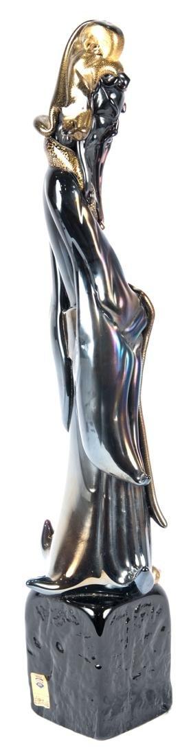 Mid-Century Gilt Murano Glass Sculpture of Confucius - 4