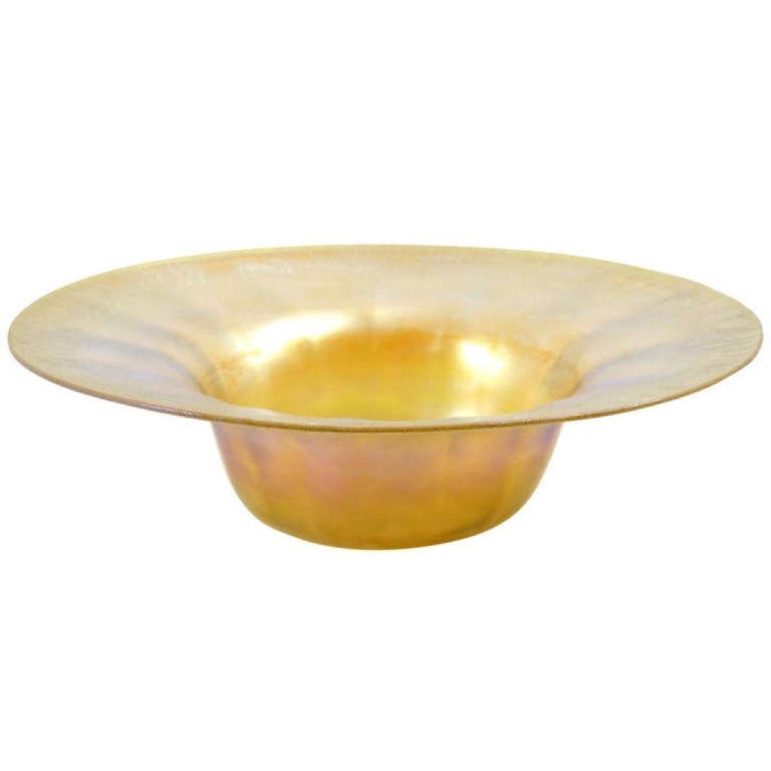 Tiffany Favrile Glass Bowl