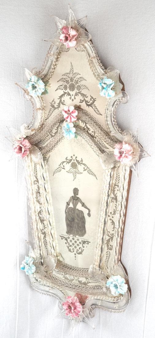 Pair of Venetian Glass Mirrors (c. 1860) - 2