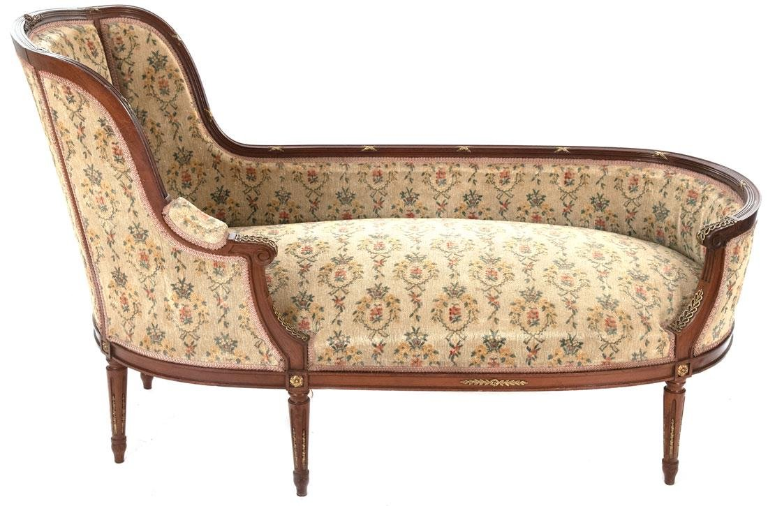 19th-Century French Louis XVI-Style Chaise en bateau