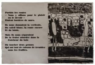JEAN DUBUFFET, Mur et voyageurs (sheet 9)