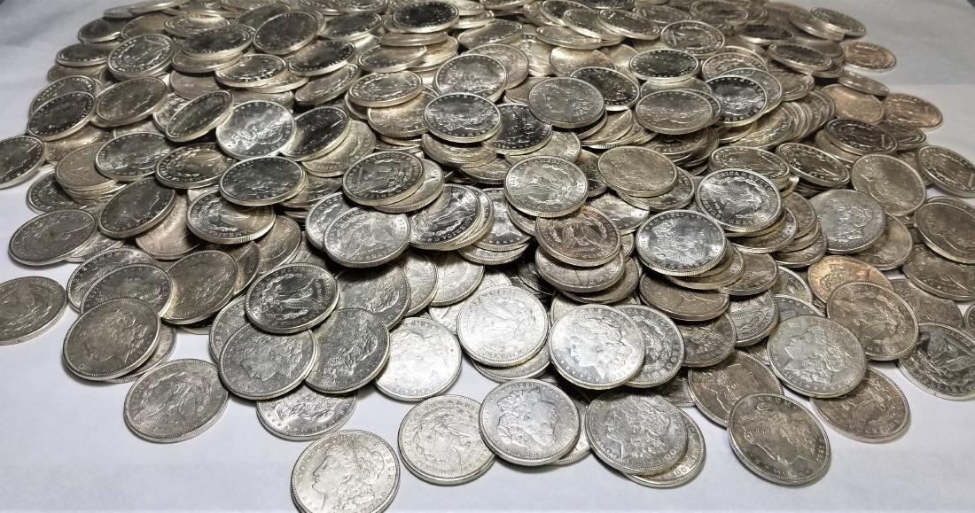 (100) 1921 Almost Mint Condition Morgan Silver Dollars