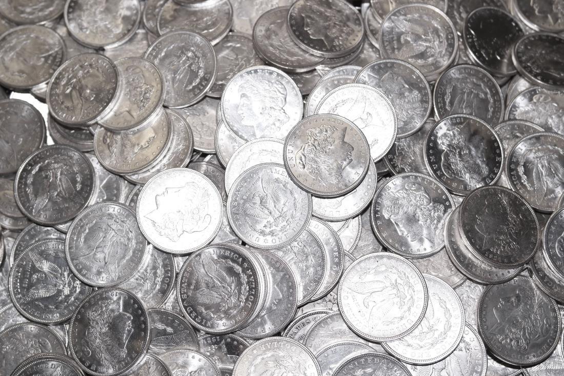 (100) 1921 Almost Mint Condition Morgan Silver Dollars - 2