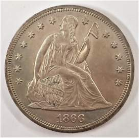 1866 Liberty Seated Dollar w/ Motto Proof