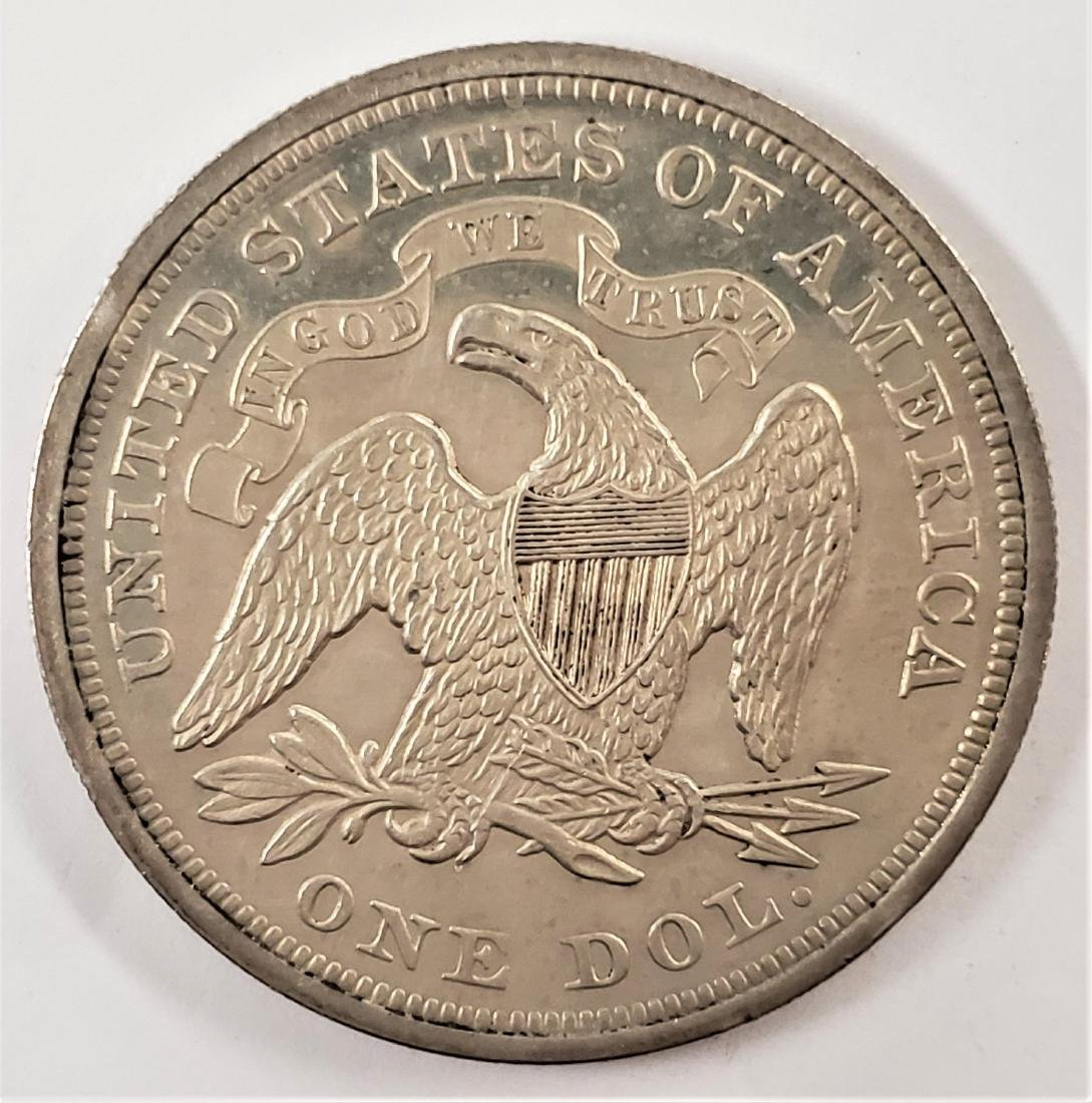 1866 Liberty Seated Dollar w/ Motto Proof - 2
