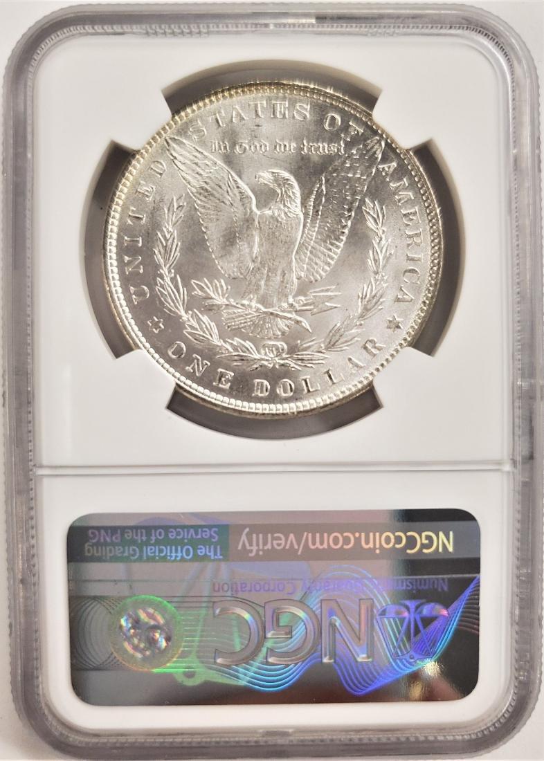 MINT ERROR 1887 Morgan Silver Dollar NGC MS64 - 2